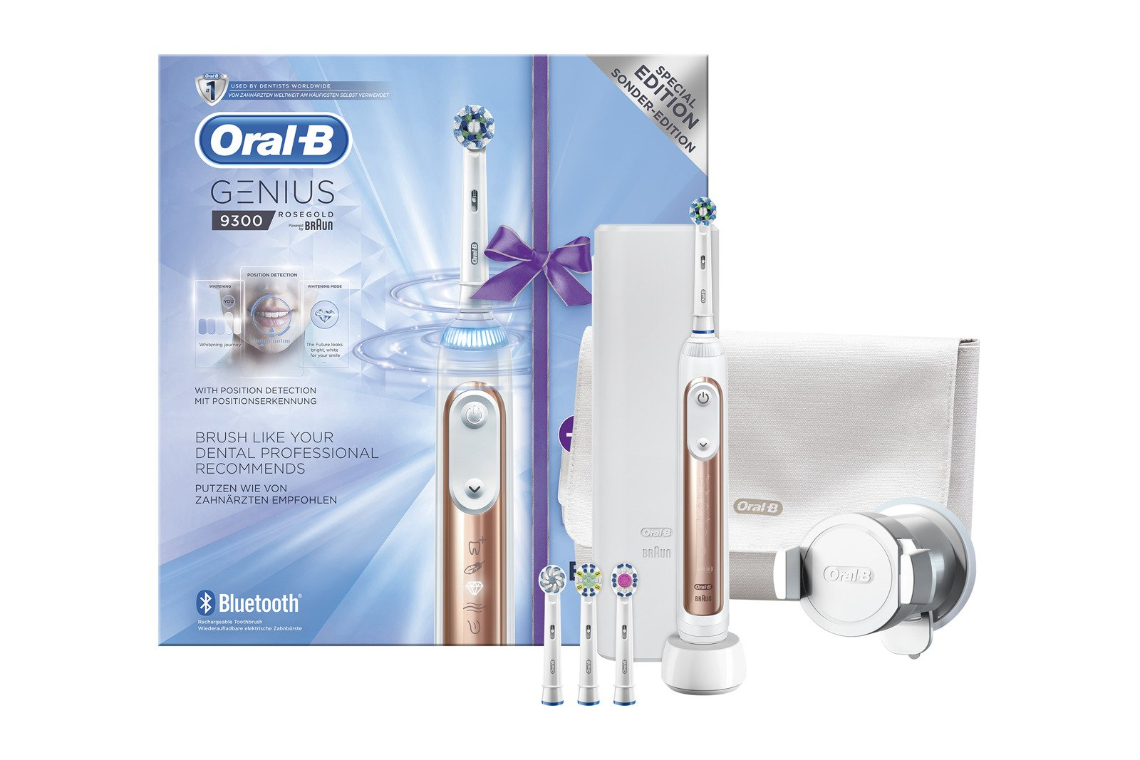 oral b genius 9300 elektrische zahnb rste rosegold ebay. Black Bedroom Furniture Sets. Home Design Ideas