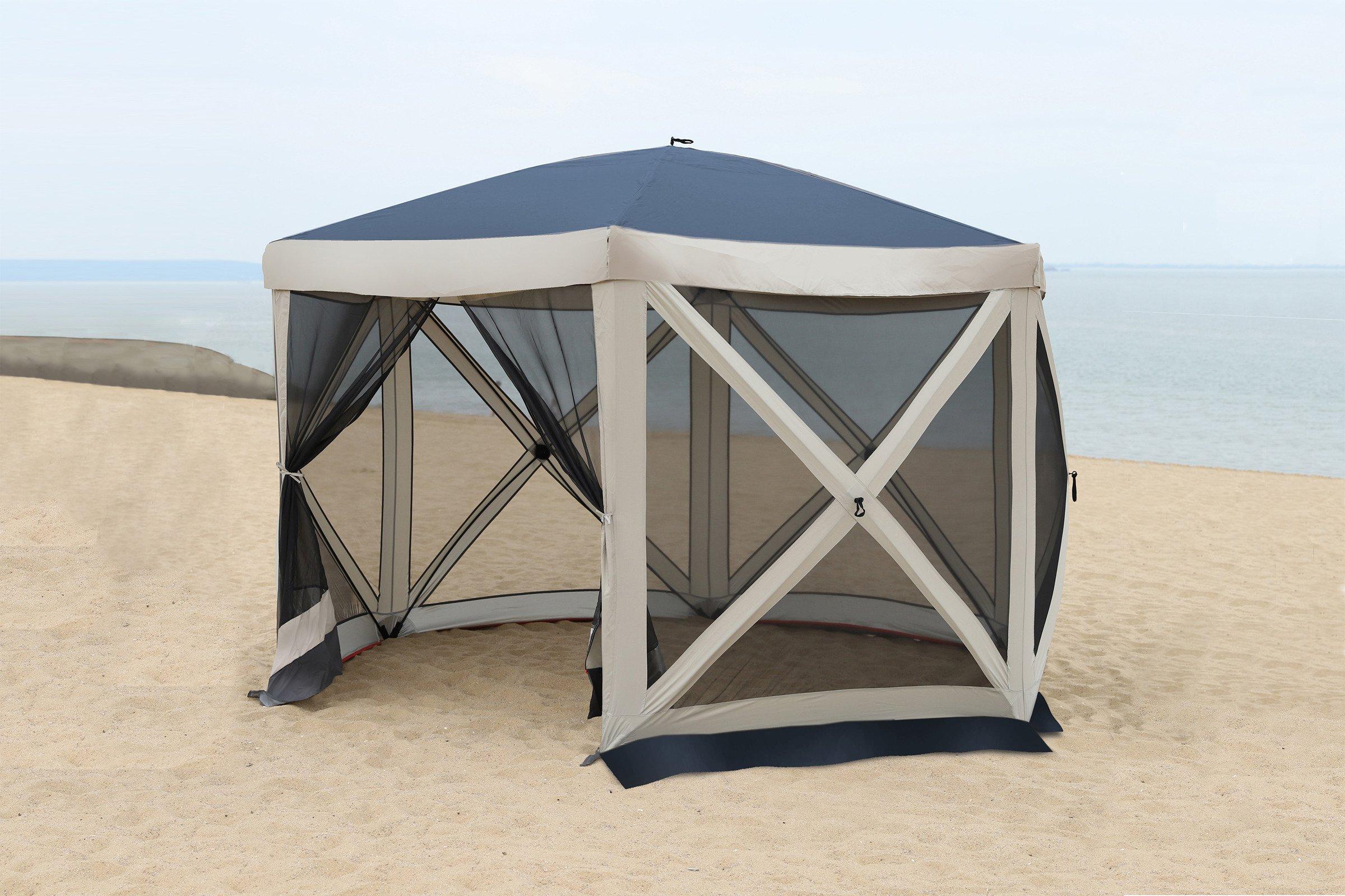 Details zu Tente de jardin Pavilion Moustiquaire All Camp Pop-up Bleu L  APL-T5006